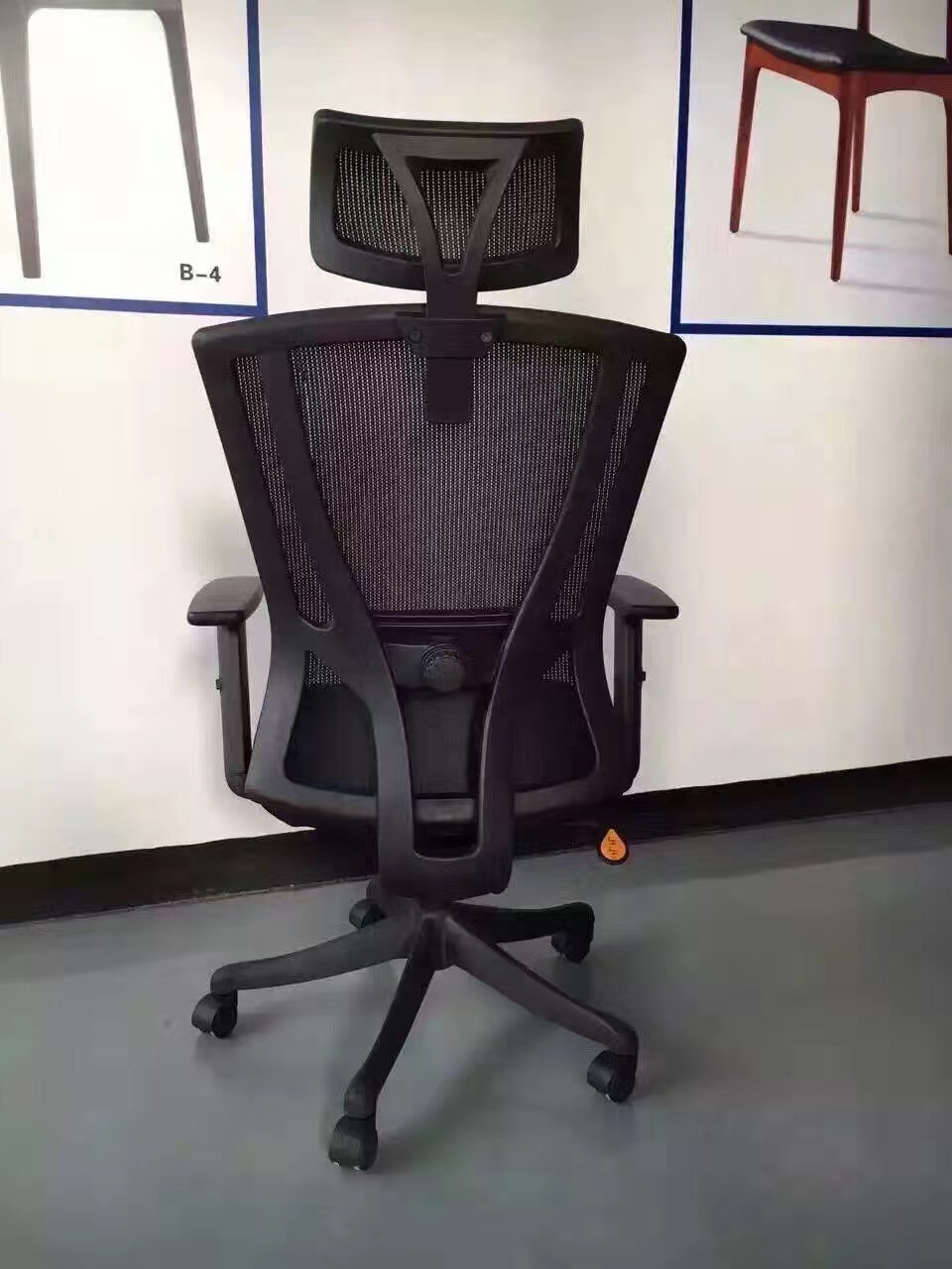 Multifunctional stylish fabric office chair for commercial use