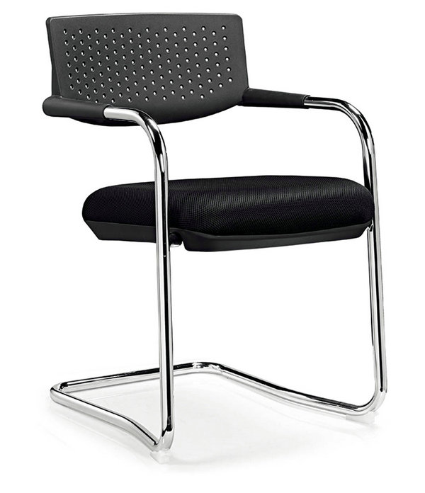 Office furniture modern visitor chair without casters,low mesh back fabric seat Stacking conference meeting Chairs