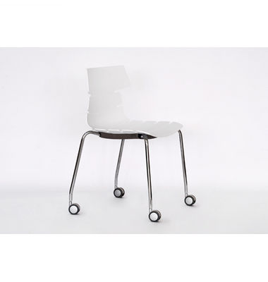 Hot sale China manufacturer plastic chair with wheels