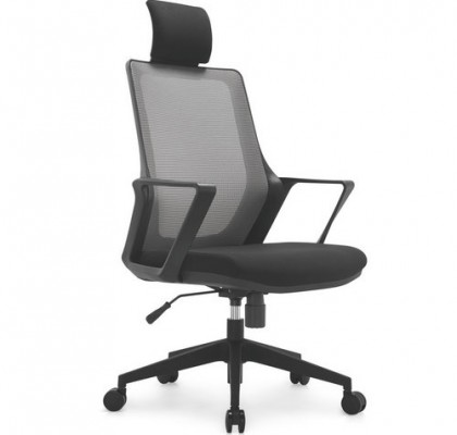 Modern ergonomic staff office black plastic mesh chair swivel computer chairs with lumbar support armchair