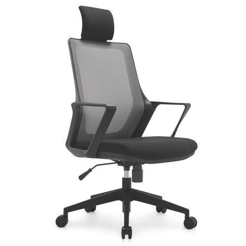 Modern ergonomic staff office black plastic mesh chair swivel computer chairs