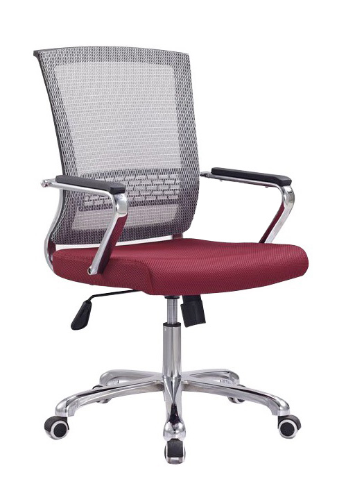 Competitive Commercial Mesh Staff Office Chair Steel Frame ArmChair Manufacture in China -1