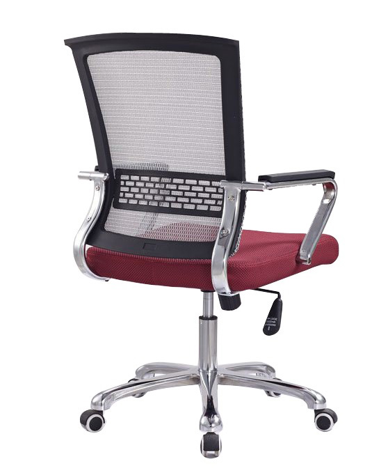 Competitive Commercial Mesh Staff Office Chair Steel Frame ArmChair Manufacture in China -2
