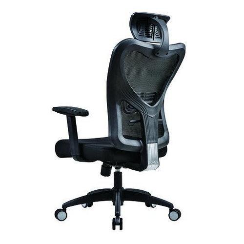 Foshan Manufacturer Ergonomic Elegant Black Mesh Swivel Office Chair with Headrest -2
