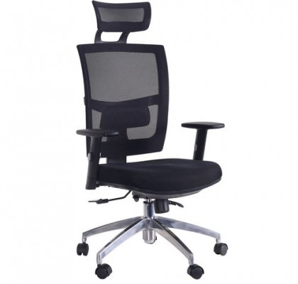 High back quality manager ergonomic computer black mesh swivel desk office chair with headrest