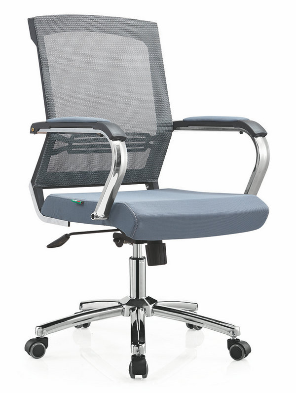 High quality Ergonomic Mesh Computer Office Desk Task Midback Staff Chair Foshan -1