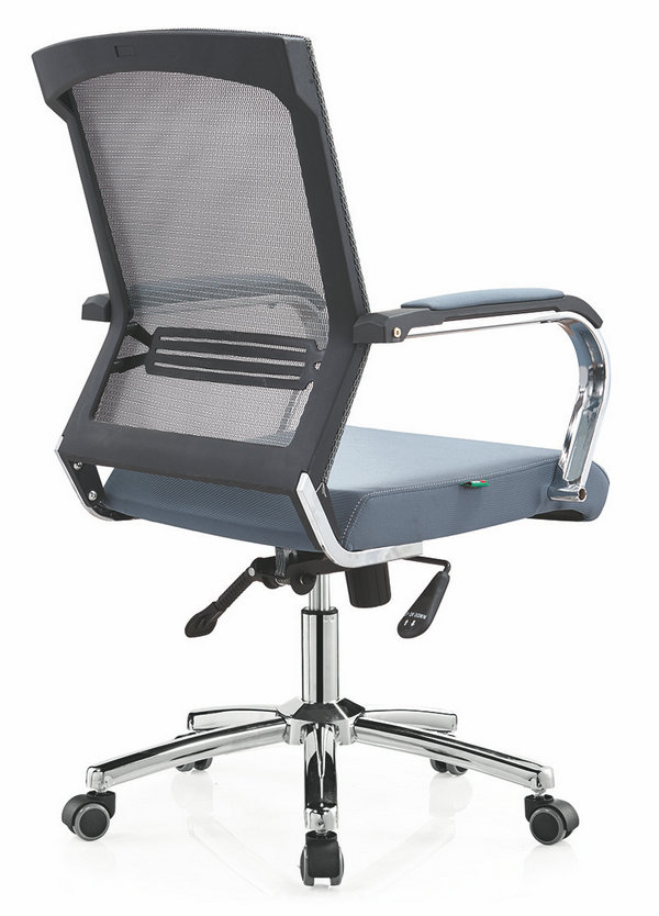 High quality Ergonomic Mesh Computer Office Desk Task Midback Staff Chair Foshan -2