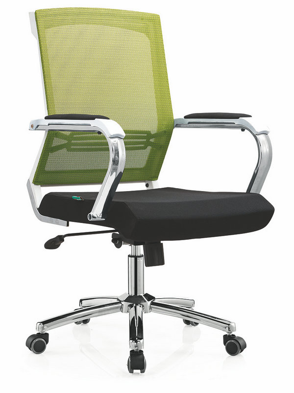 High quality Ergonomic Mesh Computer Office Desk Task Midback Staff Chair Foshan -3