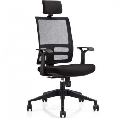 ergonomic high back mesh executive office chair with lumbar support for meeting room