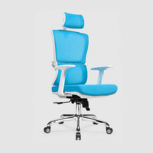 functional executive ergonomic office mesh chair height adjust swivel mesh meeing white frame recliner chair -1