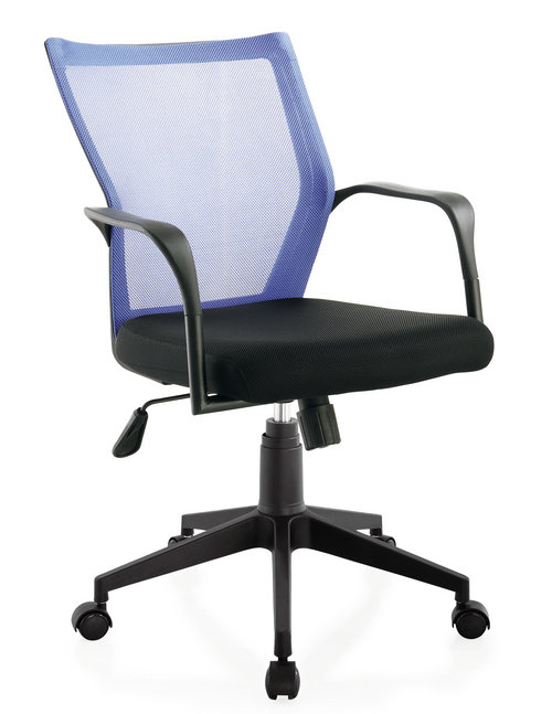 small size staff room ergonomic swivel chair low back plastic fabric computer employee chair -1