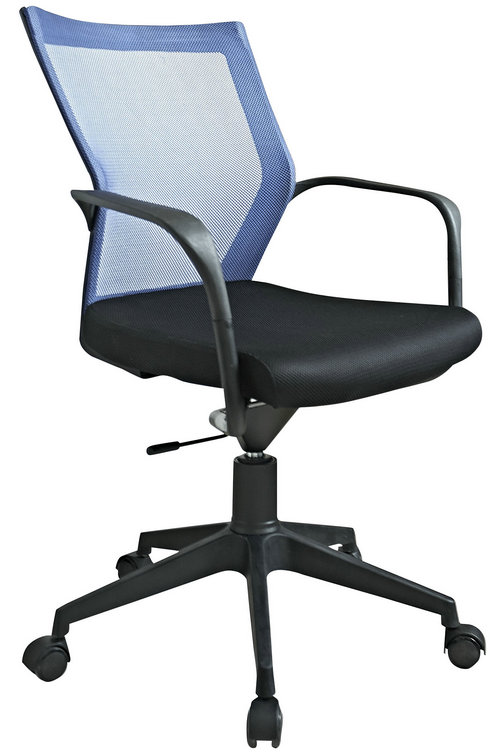small size staff room ergonomic swivel chair low back plastic fabric computer employee chair -2
