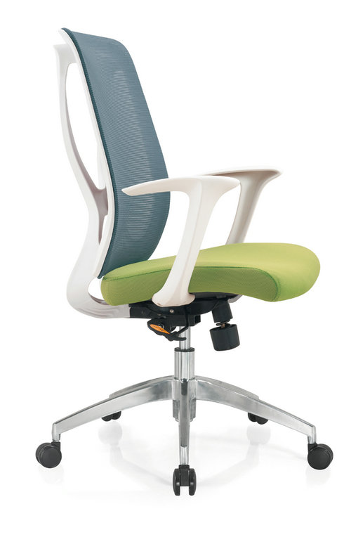 soft fabric new PP egonomic design sponge seat swivel mesh office chair computer chair -1