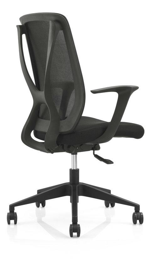 soft fabric new PP egonomic design sponge seat swivel mesh office chair computer chair -2