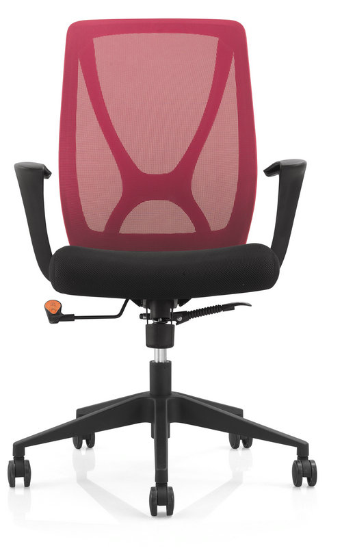 soft fabric new PP egonomic design sponge seat swivel mesh office chair computer chair -3