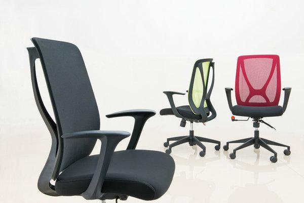 soft fabric new PP egonomic design sponge seat swivel mesh office chair computer chair -5