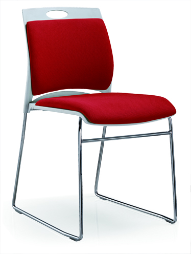 Meeting Chair Fabric Upholstered Color Is Available Reception Stainless Steel Chair -2