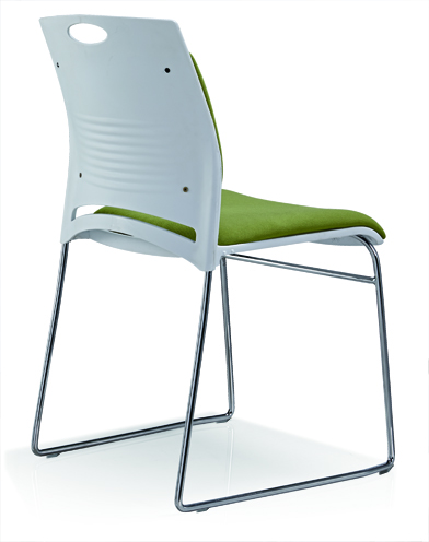 Meeting Chair Fabric Upholstered Color Is Available Reception Stainless Steel Chair -4