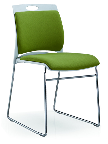 Meeting Chair Fabric Upholstered Color Is Available Reception Stainless Steel Chair -5