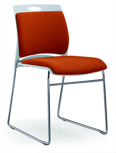 Meeting Chair Fabric Upholstered Color Is Available Reception Stainless Steel Chair -6