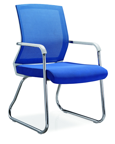 No folded Office Furniture Conference Visitor Chair Mesh Style Office Chair Without Caster -1