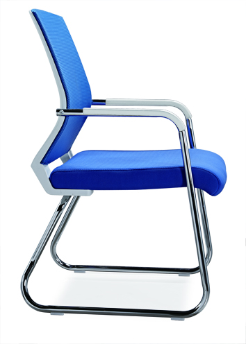 No folded Office Furniture Conference Visitor Chair Mesh Style Office Chair Without Caster -2