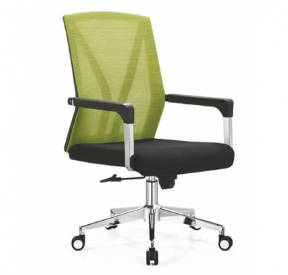 Foshan Mesh Chair with Bright Base Net Back Staff  Office Seats Conference Chair Low Price