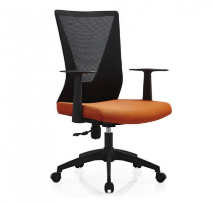 Foshan factory luxury office computer chair mesh staff operator seating with  lumbar support