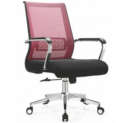 China best seller medium back office fabric chair computer task staff mesh swivel seating