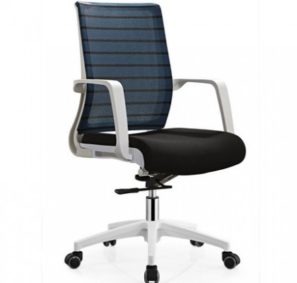 High quality white armrest lifting swivel office chair office staff computer seating