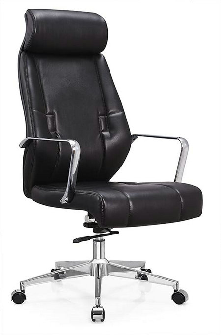Deauville Swivel Black PU Leather Manager Office Computer Chair -1