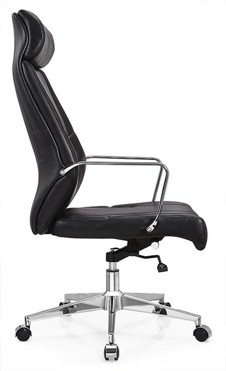 Deauville Swivel Black PU Leather Manager Office Computer Chair -2