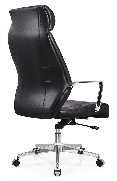 Deauville Swivel Black PU Leather Manager Office Computer Chair -3