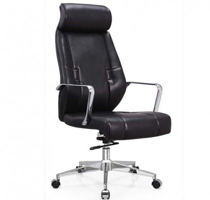 Leather Furniture Carter Black High Backed Luxury Faux Manager Office Chair