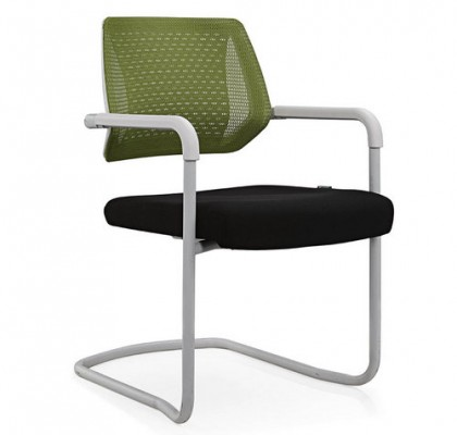 Eurotech Apollo Office Mesh Reception Chair With Sled Base Cantilever Conference Chair
