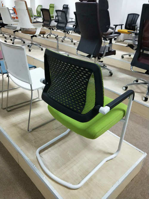 Eurotech Apollo Mesh Guest Chair With Sled Base Girsberger Yanos Cantilever Meeting Chair -7