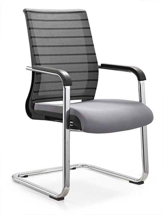 Guangdong mid back plastic office furniture conference meeting chair reception seating without wheels -1