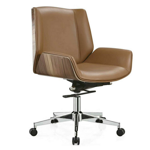 Heavy Duty Leather Operators Chair with adjustable height -1