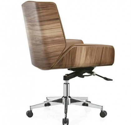 Low Back Office PU Leather Operator Chair Staff Task Swivel Stool