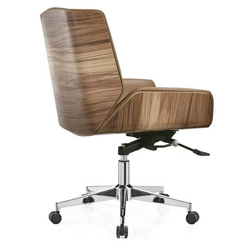 Heavy Duty Leather Operators Chair with adjustable height -2