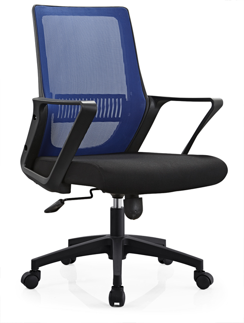 Lecong High Quality Task Staff Swivel Computer Seats Medium Back Office Chair with castors -1