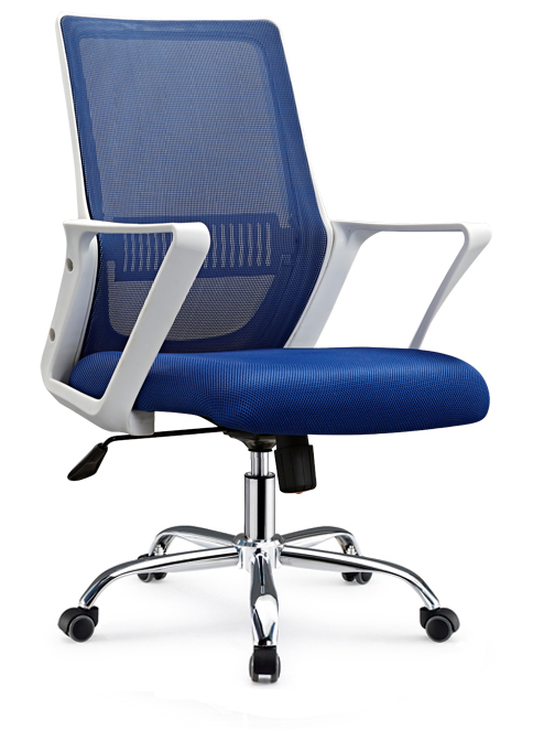 Lecong High Quality Task Staff Swivel Computer Seats Medium Back Office Chair with castors -2