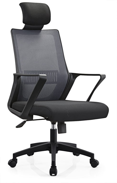 Longjiang Mesh Support Task Seating High Back Office Chair for Computer Desk with Arms and Height Adjustable -1