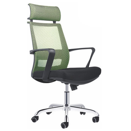 WorkPro Mesh High-Back Adjustable Home Desk Arm Chair Office Managers Swivel Chair -1