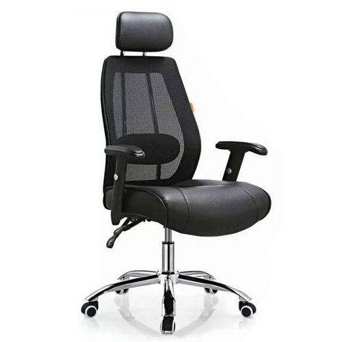 High-quality black high back mesh fabric office chair work chair -1