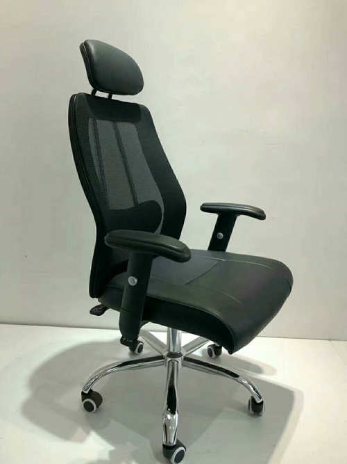 High-quality black high back mesh fabric office chair work chair -2