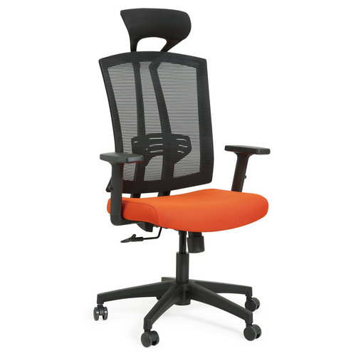 Modern high back mesh swivel office chair with headrest -1