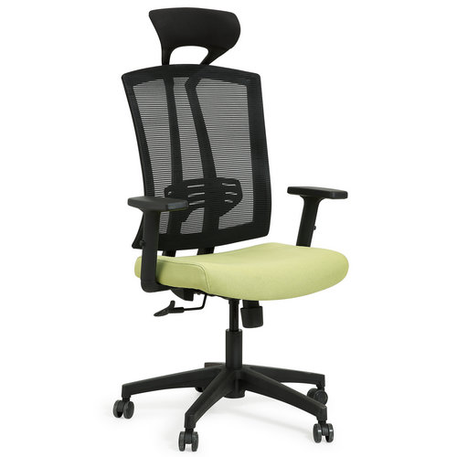 Modern high back mesh swivel office chair with headrest -3