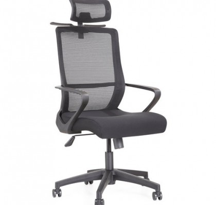 New design plastic revolving black fabric office chair for meeting room