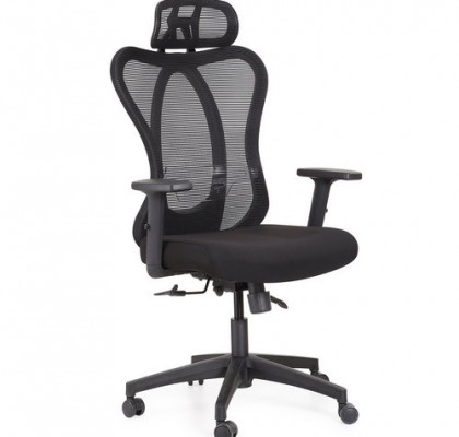 high back ergonomic black fabric executive office computer chairs